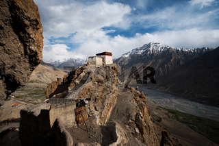 Dhankar Monastery Valley Below Landscape