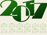 Simple 2017 typography calendar