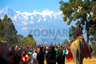Bandipur Festival Himalayan Mountain Background