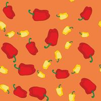 Yellow and red pepper seamless texture 608