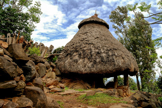 Traditional Konso tribe house, Ethiopia
