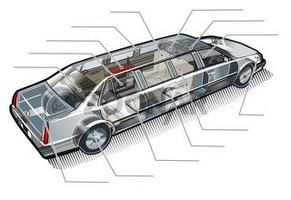 limousine inforgaphics cutaway