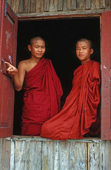 Buddhistischer Novizen in Kalaw, Myanmar