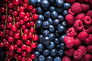 Farm fresh summer berry fruits background