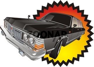 retro limousine