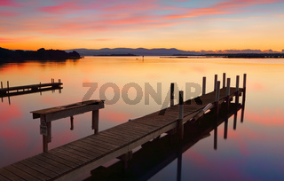 Lovely old timber jetty at sunrise