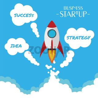 Flat Design business Startup - Success