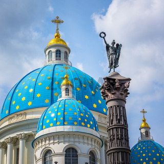 Trinity Cathedral and Column of Glory, Saint Petersburg, Russia