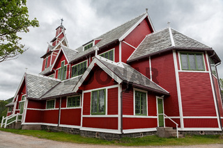 Buksnes church in Gravdal city, Norway