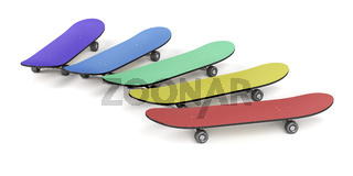 Skateboards with different colors