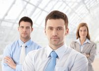 Portrait of confident businessteam