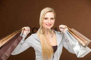 Shopping woman fashion happy bag