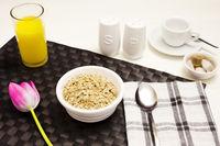 Porridge Oatmeal and Orange Juice