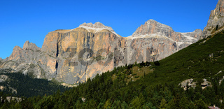 Sellagruppe in den Dolomiten, Suedtirol, Italien