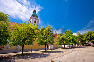 Karlovac central square church and park