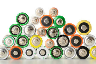 Composition with alkaline batteries
