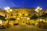 National Library of Malta,illuminated at evening