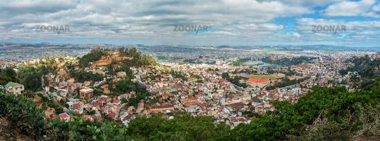 Panorama of Antananarivo capital of Madagascar