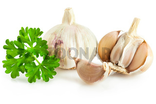 Fresh garlic and parsley