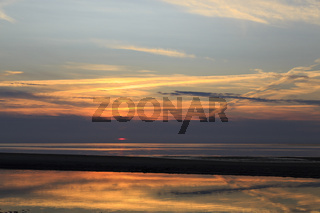 Sonnenuntergang auf Amrum, Deutschland