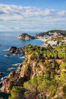 Costa Brava coastline of Mediterranean Sea (Balearic Sea)