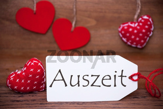 Read Hearts, Label, Auszeit Means Downtime