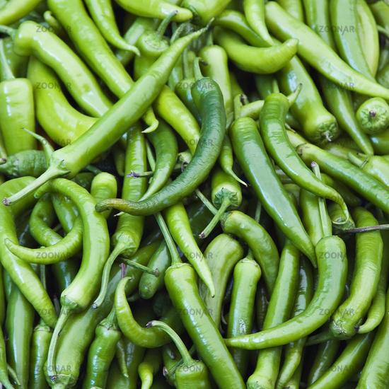 Grüne Pfefferoni - green peppers
