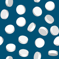 Abstract blue background with white pill