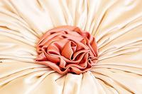Artificial fabric rose decoration closeup