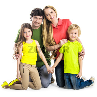 Portrait of family with children