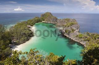 Rufus Bay Lagune bei Fam Islands, Indonesien