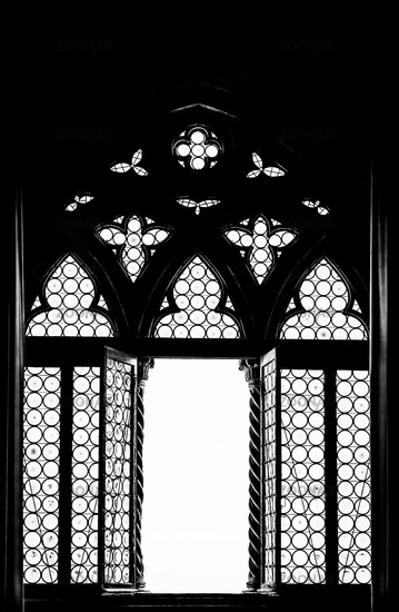 Medieval window silhouette
