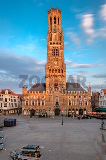 Belfry of Bruges on market square