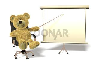 Nhi Bär Präsentation im Büro