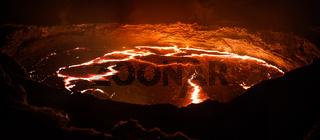Erta Ale volcano crater, melting lava, Danakil depression, Ethiopia