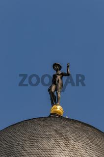 Statue der Göttin Fortuna auf dem Turm des Berliner Alten Stadthauses