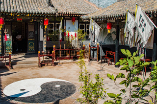 Ancient outdoor kungfu training centre