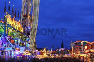Big Wheel on Annual Fair Hamburg, Germany, Riesenrad auf dem Hamburger Dom, Deutschland