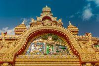 Tempel Tor Eingang Gold