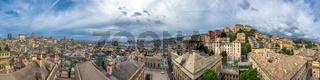 Genoa scenic panorama, Ligurian coast, Italy