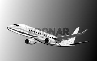 Commercial jet plane