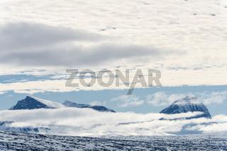 Blick zu Gipfeln im Sarek Nationalpark, Lappland