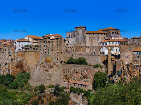 Pitigliano medieval town in Tuscany Italy
