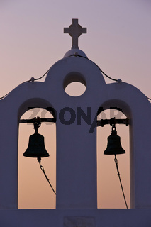 bell tower on Santorini