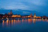 Blaue Stunde in Dresden