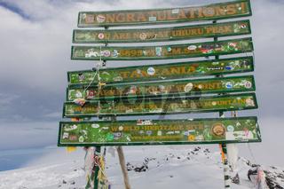 2014 02 Tanzania, Africa: Uhuru Peak highest summit on Mount Kilimanjaro