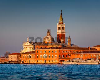 San Giorgio Maggiore Church facing Grand Canal in Venice, Italy