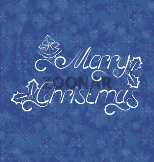 Christmas background, Merry Christmas lettering