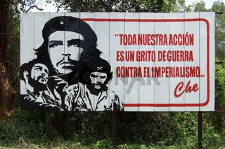 Kubanisches Straßenschild / Che