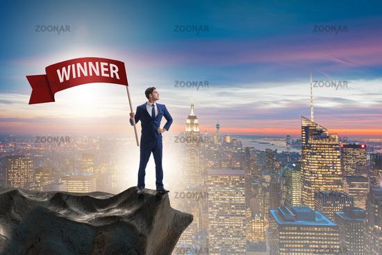 Businessman in winner business concept